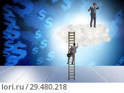Купить «Concept of mentorship in business and career progression», фото № 29480218, снято 20 марта 2019 г. (c) Elnur / Фотобанк Лори