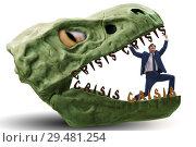 Купить «Businessman in crisis and recession concept», фото № 29481254, снято 18 марта 2019 г. (c) Elnur / Фотобанк Лори