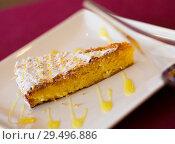 Купить «Almond pie Tarta de Santiago», фото № 29496886, снято 24 июля 2019 г. (c) Яков Филимонов / Фотобанк Лори
