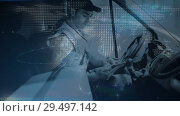 Купить «Warehouse Composition of Delivery man in a van combined with illustration and animation of t», видеоролик № 29497142, снято 22 мая 2019 г. (c) Wavebreak Media / Фотобанк Лори
