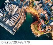 Купить «El Toro villas with swimming pools and port. Majorca. Spain», фото № 29498170, снято 3 ноября 2018 г. (c) Alexander Tihonovs / Фотобанк Лори