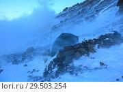 Пурга в горах. Стоковое фото, фотограф Дмитрий Воробьев / Фотобанк Лори