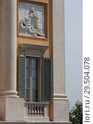 Palazzo Medolago Albani, Upper town of Bergamo, Italy (2014 год). Стоковое фото, фотограф Виталий Батанов / Фотобанк Лори