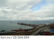 Купить «Корсаков. Порт», фото № 29504094, снято 31 октября 2018 г. (c) Ed_Z / Фотобанк Лори
