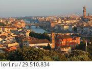 Купить «Cityscape of Florence, Italy», фото № 29510834, снято 9 августа 2018 г. (c) Stockphoto / Фотобанк Лори