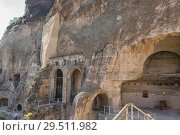 Купить «Church of the Dormition in ancient cave monastery Vardzia, Georgia», фото № 29511982, снято 25 сентября 2018 г. (c) Юлия Бабкина / Фотобанк Лори
