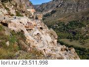 Купить «Ancient cave monastery Vardzia, Georgia», фото № 29511998, снято 25 сентября 2018 г. (c) Юлия Бабкина / Фотобанк Лори