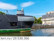 Купить «Подводная лодка Б-413 проекта 641. Гидроакустическая антенна. Музей мирового океана. Калининград», эксклюзивное фото № 29530366, снято 10 июля 2018 г. (c) Александр Щепин / Фотобанк Лори
