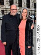 Купить «Celebrities arrive for Austrian Film Award 'Romy' at Hofburg in Vienna. Featuring: August Schmoelzer, Veronika Schmoelzer Where: Vienna, Austria When: 07 Apr 2018 Credit: AEDT/WENN.com», фото № 29534850, снято 7 апреля 2018 г. (c) age Fotostock / Фотобанк Лори
