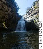 Купить «Waterfall La Foradada de Cantonigros», фото № 29537254, снято 26 марта 2017 г. (c) Яков Филимонов / Фотобанк Лори