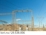 Купить «transmission towers and power line», фото № 29538006, снято 3 марта 2018 г. (c) Syda Productions / Фотобанк Лори