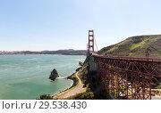 Купить «view of golden gate bridge over san francisco bay», фото № 29538430, снято 27 февраля 2018 г. (c) Syda Productions / Фотобанк Лори