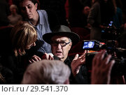 Купить «Wim Wenders attends at the evening in memory of Bernardo Bertolucci at the Argentina Theatre in Rome, ITALY-06-12-2018.», фото № 29541370, снято 6 декабря 2018 г. (c) age Fotostock / Фотобанк Лори
