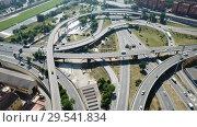Купить «Image of car interchange of Barcelona in the Spain.», видеоролик № 29541834, снято 12 июня 2018 г. (c) Яков Филимонов / Фотобанк Лори