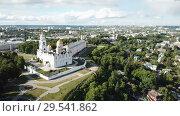 Купить «Assumption Cathedral in Vladimir - outstanding monument of white-stone architecture of Medieval Russia», видеоролик № 29541862, снято 28 июня 2018 г. (c) Яков Филимонов / Фотобанк Лори