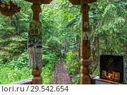 Купить «A holy spring in honor of St. Nicholas near the village of Panovo, Kostroma region.», фото № 29542654, снято 26 июня 2017 г. (c) Валерий Смирнов / Фотобанк Лори