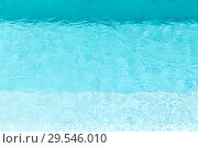 Купить «turquoise water in swimming pool», фото № 29546010, снято 18 февраля 2018 г. (c) Syda Productions / Фотобанк Лори
