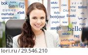 Купить «translator over words in different languages», фото № 29546210, снято 16 июля 2011 г. (c) Syda Productions / Фотобанк Лори