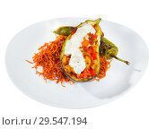 Купить «Eggplant stuffed with stewed vegetables», фото № 29547194, снято 24 февраля 2019 г. (c) Яков Филимонов / Фотобанк Лори