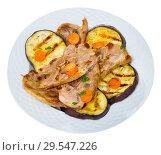 Купить «Mutton chops served with grilled vegetables», фото № 29547226, снято 4 июля 2020 г. (c) Яков Филимонов / Фотобанк Лори