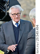 Купить «Michael Heseltine / Baron Heseltine (former Conservative MP and deputy PM) being interviewed on College Green, Westminster, November 2018.», фото № 29549494, снято 14 ноября 2018 г. (c) age Fotostock / Фотобанк Лори
