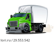 Купить «Cartoon delivery or cargo truck isolated on white background», иллюстрация № 29553542 (c) Александр Володин / Фотобанк Лори