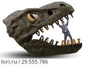 Купить «Businessman in the jaws of debt and loan», фото № 29555786, снято 15 декабря 2018 г. (c) Elnur / Фотобанк Лори