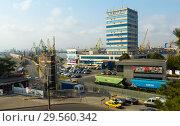 Купить «Industrial port, Constanta, Romania», фото № 29560342, снято 20 сентября 2017 г. (c) Яков Филимонов / Фотобанк Лори