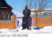 Купить «Памятник Дмитрию Пожарскому в Зарайске», фото № 29563686, снято 9 марта 2018 г. (c) Natalya Sidorova / Фотобанк Лори
