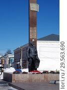 Купить «Вечный огонь в Зарайске», фото № 29563690, снято 9 марта 2018 г. (c) Natalya Sidorova / Фотобанк Лори