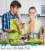 Housewife put too much spices in food. Стоковое фото, фотограф Яков Филимонов / Фотобанк Лори