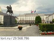 Купить «Warsaw, Mazovia, Poland - Presidential Palace», фото № 29568786, снято 14 августа 2018 г. (c) Caro Photoagency / Фотобанк Лори