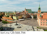 Купить «Warsaw, Mazovia, Poland - View of the Palace Square, Royal Palace and City Wall», фото № 29568794, снято 14 августа 2018 г. (c) Caro Photoagency / Фотобанк Лори