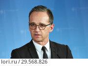 Купить «Berlin, Germany - Federal Foreign Minister Heiko Maas.», фото № 29568826, снято 17 октября 2018 г. (c) Caro Photoagency / Фотобанк Лори
