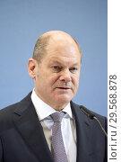 Купить «Berlin, Germany - Federal Minister of Finance Olaf Scholz.», фото № 29568878, снято 25 октября 2018 г. (c) Caro Photoagency / Фотобанк Лори
