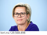 Купить «Berlin, Germany - Barbara Klepsch, Minister of State for Social Affairs and Consumer Protection.», фото № 29568898, снято 16 октября 2018 г. (c) Caro Photoagency / Фотобанк Лори