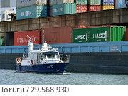 Купить «Germany, North Rhine-Westphalia - inland port in Duisburg», фото № 29568930, снято 17 мая 2018 г. (c) Caro Photoagency / Фотобанк Лори