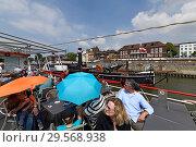 Купить «Germany, North Rhine-Westphalia - Port Tour in Duisburg's Inland Port», фото № 29568938, снято 3 июня 2018 г. (c) Caro Photoagency / Фотобанк Лори