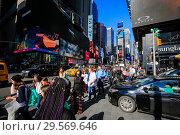 Купить «Times Square in New York», фото № 29569646, снято 21 февраля 2018 г. (c) Caro Photoagency / Фотобанк Лори