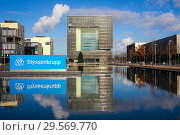 Купить «ThyssenKrupp Headquarters, Essen, North Rhine-Westphalia, Ruhr Area, Germany, Europe», фото № 29569770, снято 4 декабря 2018 г. (c) Caro Photoagency / Фотобанк Лори