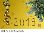 New Year's composition, congratulations on the holiday. Стоковое фото, фотограф Наталья Волкова / Фотобанк Лори