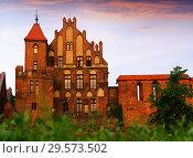 Купить «Teutonic Knights Castle, Torun, Poland», фото № 29573502, снято 11 мая 2018 г. (c) Яков Филимонов / Фотобанк Лори
