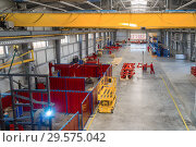 Купить «Factory assembly shop. Manufacture of agricultural machinery», фото № 29575042, снято 21 июня 2018 г. (c) Андрей Радченко / Фотобанк Лори