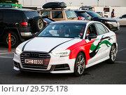 Купить «Audi S3», фото № 29575178, снято 15 ноября 2018 г. (c) Art Konovalov / Фотобанк Лори