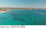 Купить «A fragment of the sea coast near Ayia Napa, Cyprus», видеоролик № 29575478, снято 17 января 2019 г. (c) Володина Ольга / Фотобанк Лори