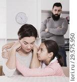 Купить «Father lecturing wife and daughter», фото № 29575950, снято 18 января 2019 г. (c) Яков Филимонов / Фотобанк Лори