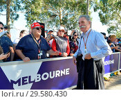 Купить «F1 CEO Chase Carey meets fans at the Formula One Australian Grand Prix, at the Melbourne Grand Prix Circuit in Melbourne, Australia. Featuring: Chase Carey...», фото № 29580430, снято 25 марта 2018 г. (c) age Fotostock / Фотобанк Лори