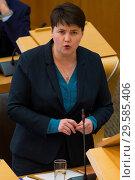 Купить «Politicians attend the Scottish First Minister's Questions at Holyrood which has just passed an alternative Brexit Bill. Featuring: Ruth Davidson Where...», фото № 29585406, снято 22 марта 2018 г. (c) age Fotostock / Фотобанк Лори
