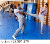 Купить «People practicing self defense techniques», фото № 29591270, снято 31 октября 2018 г. (c) Яков Филимонов / Фотобанк Лори
