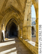 Купить «Courtyard of Cathedral of Saint Nazaire, Beziers», фото № 29592198, снято 1 декабря 2017 г. (c) Яков Филимонов / Фотобанк Лори